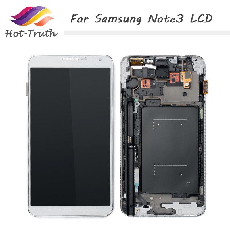 Hot-vérité 5 pièces écran pour Samsung Galaxy note3 n900 n9000 n9005 n900A LCD écran tactile numériseur assemblée avec cadre