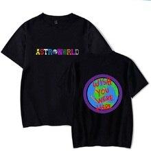 ea101277b6f007 Streetwear Travis Scotts ASTROWORLD Lächelndes erde Print t shirt Männer  Casual Hip Hop camiseta hombre Kurzarm männer t shirt