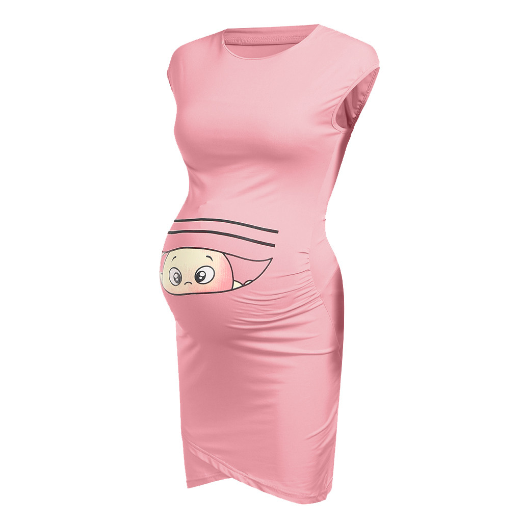 Summer Dresses For Pregnant Women maternity dresses Baby Print Pregnant Maternity Maternity Props Bodycon Casual Dresses 2019 4