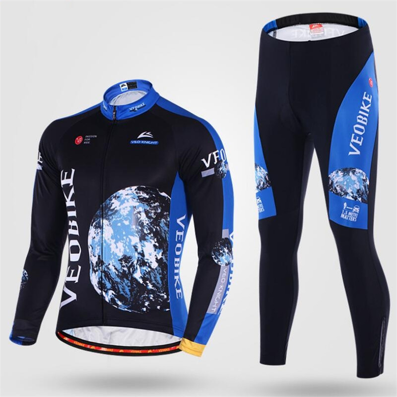 Cycling Sets Jersey Bicycle Team outdoor Long Sleeve Reflective Jerseys Mountain MTB Bike Road 3D Padded Cycling Clothing H022 bike team long sleeve breathable outdoor cycling sets 3d gel padded quick dry bicycle apparel clothing cycling jersey sets h021