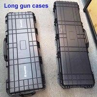 Funda de pistola larga, caja de herramientas grande resistente a impactos, sellada, impermeable, equipo, cámara, funda de pistola con espuma precortada
