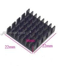 Радиатор 22*22*6 ММ (черный слот) высокое качество радиатора