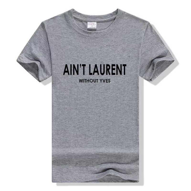 Fun Female T-Shirt Black White Short Sleeve Slim Sexy T Shirt Summer Women Tshirt AIN'T ZA Letters Print Cotton Casual Funny
