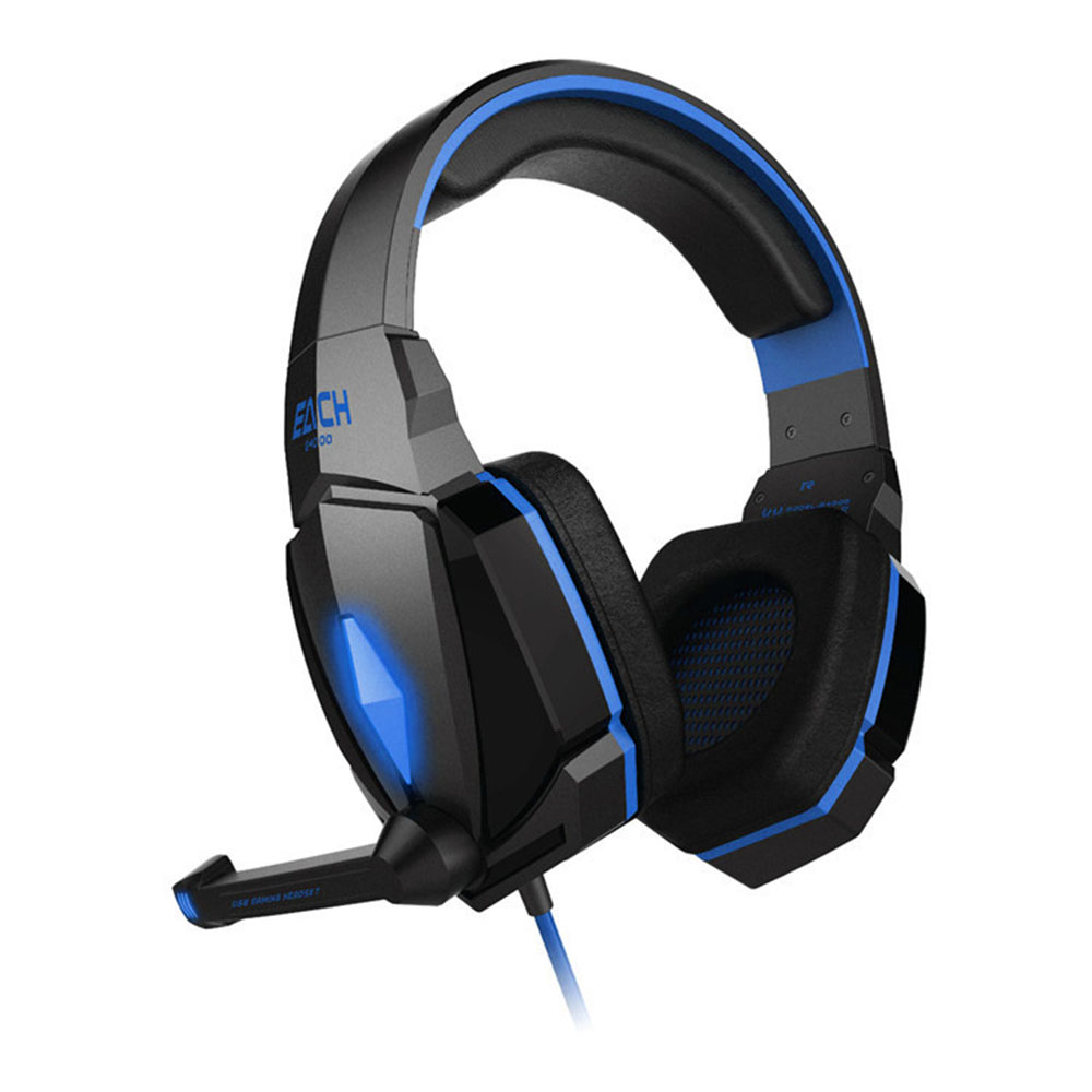 KOTION EACH G4000 Gaming Headset Stereo Sound 2.2M Wired Headphone Noise Reduction with Microphone for Smartphone /PC each g1100 shake e sports gaming mic led light headset headphone casque with 7 1 heavy bass surround sound for pc gamer