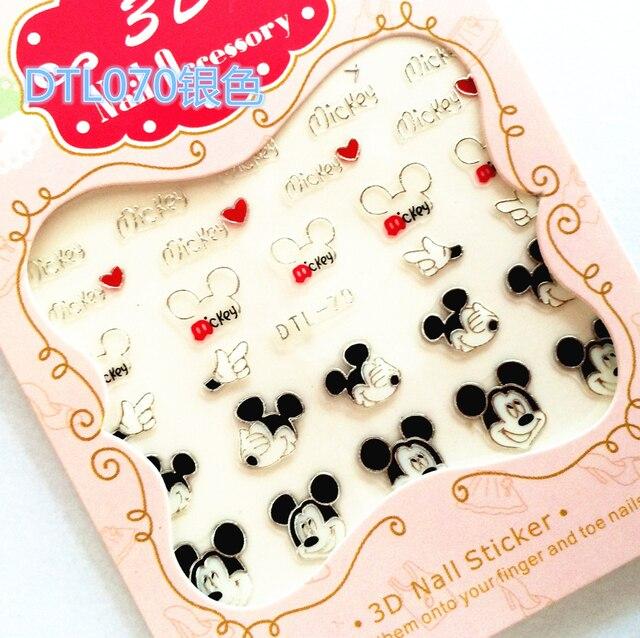 30 стилей! Мода лак для ногтей 3D Серебряные украшения дизайн назад клей для ногтей наклейки для ногтей советы красота