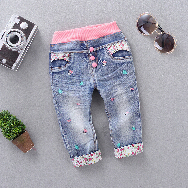 New-Arrival-Baby-Girls-Fashion-Denim-Jeans-Girls-Floral-Belt-Skinny-Jeans-Kids-Spring-Autumn-Jeans-Child-Long-Pants-2