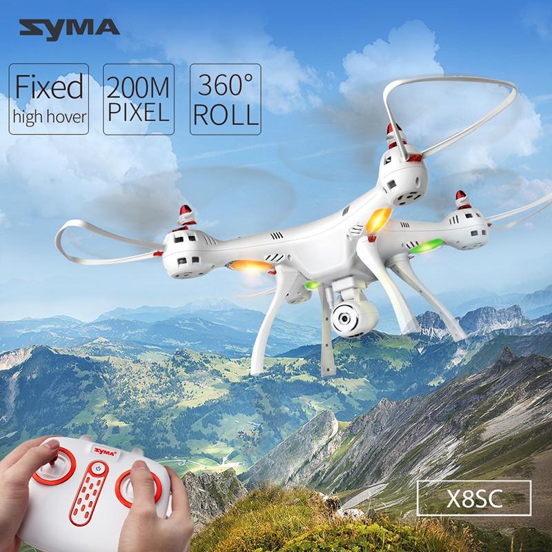 Original Syma X8SC 2.4G 4CH 6-Axis RC Quadcopter RTF Drones with 2.0MP HD Camera Barometer Set HeightOriginal Syma X8SC 2.4G 4CH 6-Axis RC Quadcopter RTF Drones with 2.0MP HD Camera Barometer Set Height