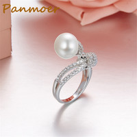 New S925 Sterling Silver micro pearl zircon ring fashion trend charms rings for women,engangment/wedding rings jewelry