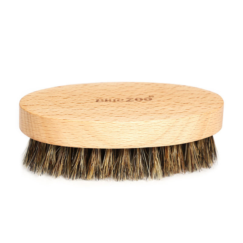 Men's Beard Brush Boar Hair Bristle Beard Brush Round Wood Shaving Comb Face Massage Handmade Mustache Brush Beauty Care