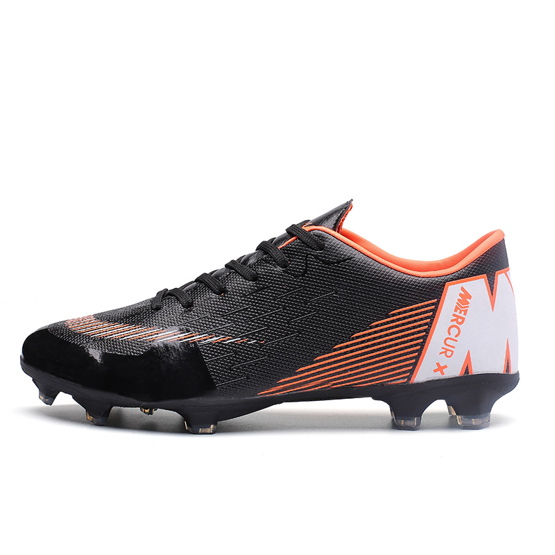 Men Boy Kids Soccer Cleats Turf Football Soccer Shoes TF Hard Court Sneakers Trainers New Design Football Boots(China)