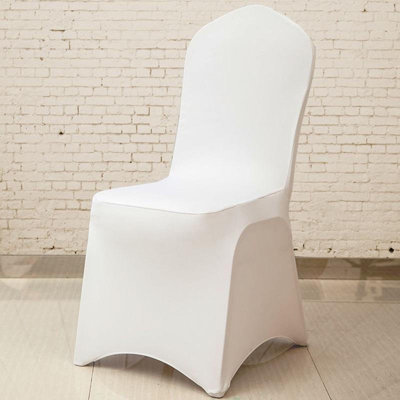 Goedkope Witte Bureaustoel.100 Stks Goedkope Witte Bruiloft Diner Spandex Polyester Stoel Cover