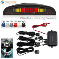 Wireless Auto Car Parktronic LED Parking Sensor System Reverse Backup Monitor Radar Detector With 4 Sensors