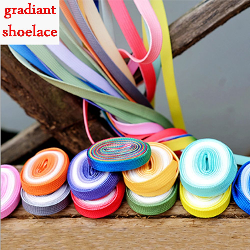 1Pair Fashion Gradient Shoe Laces Daily Party Camping Shoelaces Canvas Strings Flat Laces Candy Color For Women 1Pair Fashion Gradient Shoe Laces Daily Party Camping Shoelaces Canvas Strings Flat Laces Candy Color For Women