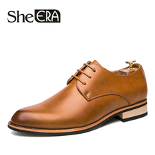 цены Men Casual Shoes Leather 2019 New Luxury Italian Formal Business Dress Oxfords Shoes for Men British Brand Men Leather FlatsDrop