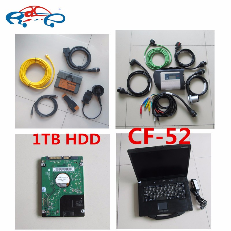 For BMW ICOM MB Star C4 Software in 1TB HDD installed For Panasonic Toughbook CF52 Laptop + For bmw icom a2 + mb star sd connect