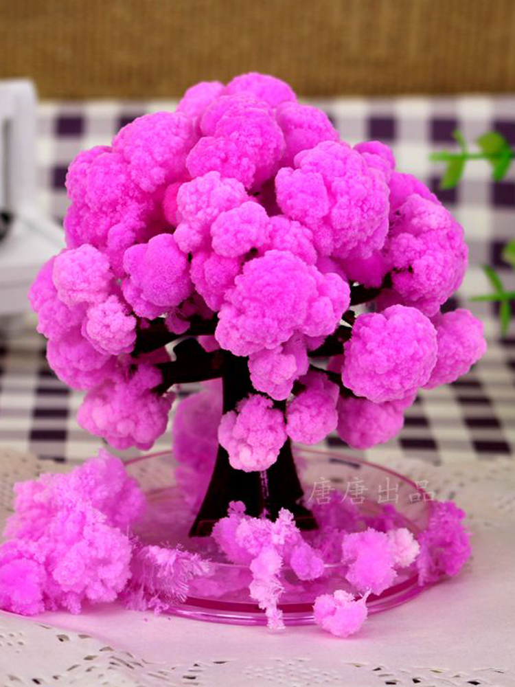 Cool ThumbsUp Magic Japanese Sakura Tree Toy Brand New Made in Japan Pink Magically Decorative Growing Paper Trees Hot Baby Toys