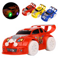 Best Gift Stunning universal Turning 3Colors Plastic Cute Toy Cars for Child Electric Toy Car Model Kids Toys for Boys