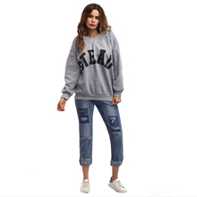 2017 Women's autumn and winter new casual loose long hoodies women