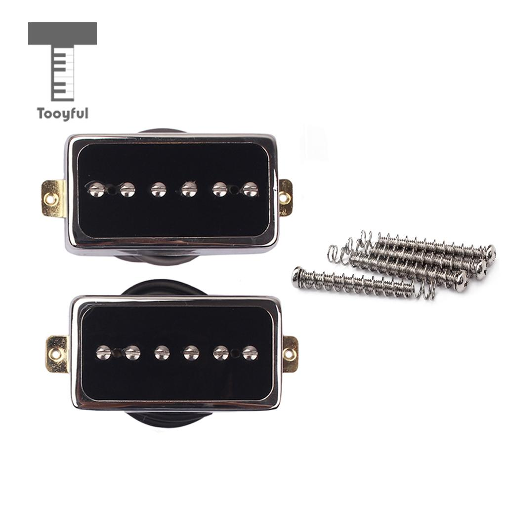 2 Pieces Plastic Alnico 5 Soapbar Single Coil Pickup Set for Electric Guitar Replacement Parts Neck/Bridge Black professional vintage set of single coil pickup neck middle bridge for electric guitar musical instrument accessory brand new