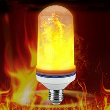 Fashion Flame LED lamp DIY Party Decor Flame Effect Fire Light Bulbs for home decor party Holiday Emulation flame Lights E27 E26(China)
