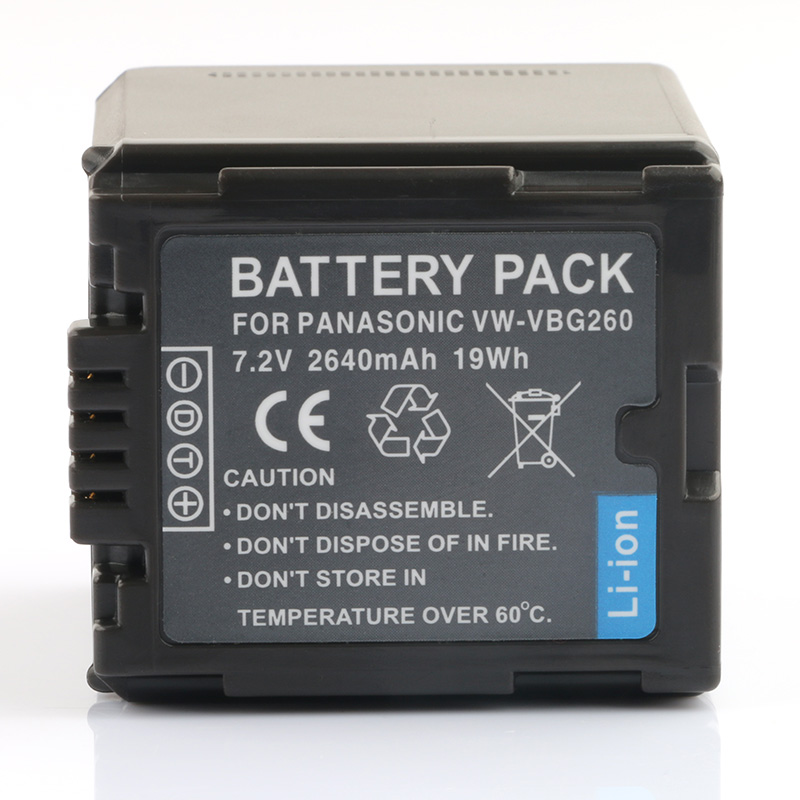 LANFULANG Battery for <font><b>Panasonic</b></font> VW-VBG260 and <font><b>Panasonic</b></font> AG-HMC151 AG-HMC150 <font><b>SDR</b></font>-<font><b>H80</b></font> HDC-HS300 AG-HMC71 image
