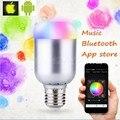 8 Вт E27 B22 Лампы Smart Led Беспроводной Связи Bluetooth music спикер лампы RGBWW Светодиодные Лампы Изменение Цвета Музыка Свет Android IOS 110-220 В