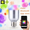 8W E27 B22 Smart Led Bulb Bluetooth Wireless music bulb speaker RGBWW Led Lamp Color Change Music LED Light Android IOS 110-220V