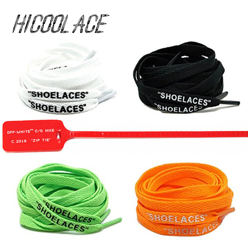 2019 New 47/55/63 SHOELACES Silicone Printing Shoelaces with Zip Tie Off White The Ten Shoelaces for Sneakers Boost2019 New 47/55/63 SHOELACES Silicone Printing Shoelaces with Zip Tie Off White The Ten Shoelaces for Sneakers Boost