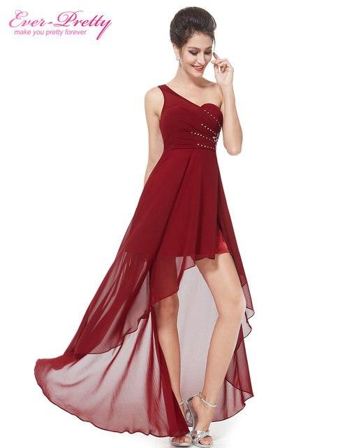 Когда-либо довольно Выпускные платья ep08100 уникальный одно плечо Стразы красные шифоновые вечерние платье для 2017, женская обувь Vestidos Выпускные платья