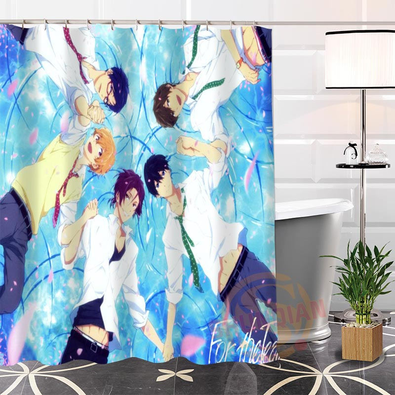 Custom the Anime Gallery@1 Fabric Shower Curtain bathroom Modern Hot Popular Fashion Waterproof 100% Polyester H0223-101