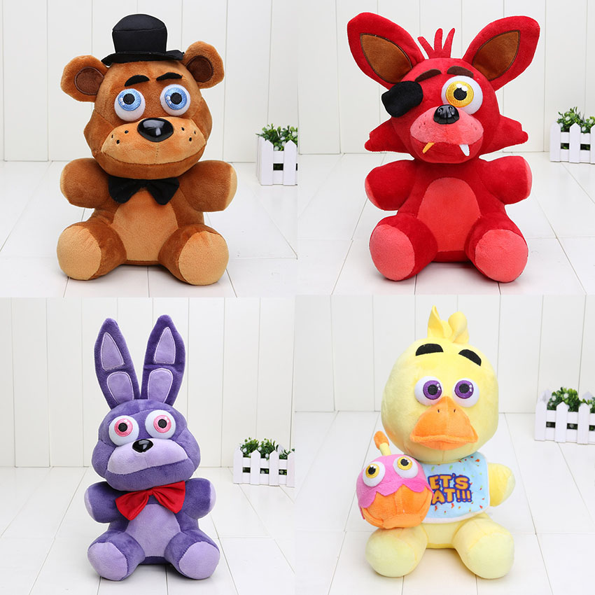 4pcs/set 25cm Five Nights At Freddy's Toy Bear Foxy Chica
