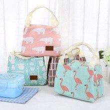 Женская мультяшная милая сумка для обеда, термоизоляционная холодная сумка-холодильник для хранения, карман на молнии, утолщенная удобная сумка для пикника