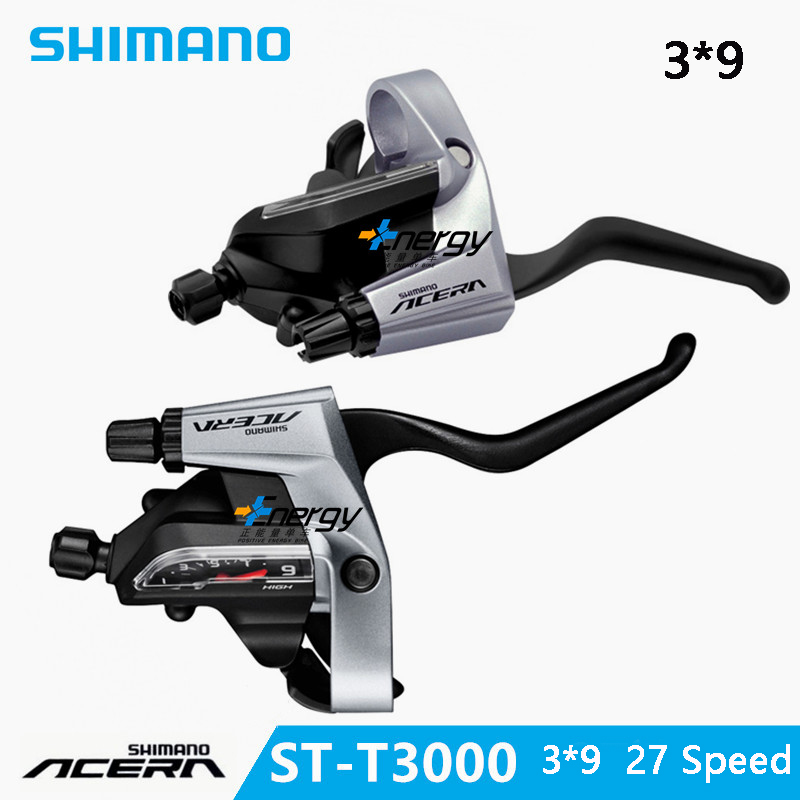 SHIMANO ACERA mountain bike ST-T3000 DIP drive bicycle brake handle crank lever switch MTB bicycle derailleur Bicycle parts shimano acera fc m391 27s travel bicycle crane chain plate accessories mtb mountain bike sprockets accessories 48 36 26t