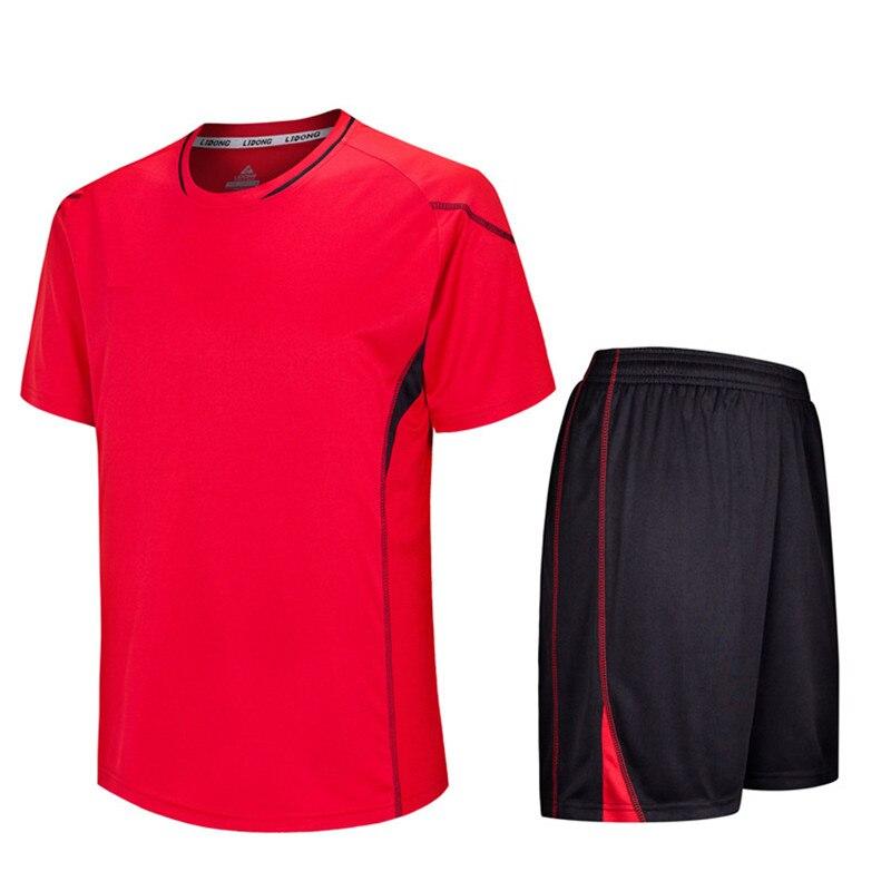 5bc25840d Shorts Suit Survetement Football 2018 Men Soccer Jerseys Sets maillot de  foot Breathable