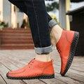 New Arrive men Leather casual Shoes Four Seasons 2016 fashion mens platform shoes male Flats