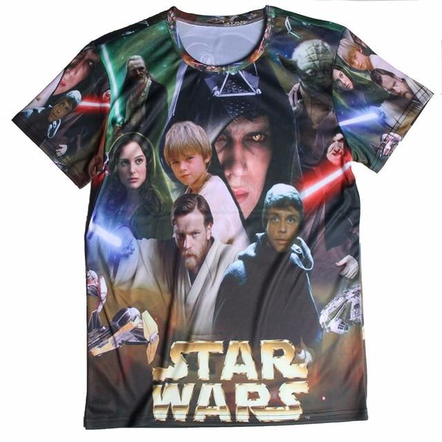 Promotion Star Wars Darth Vader T Shirts Men O Neck Cotton Star Wars Mens 3D shirt Euro Size Free Shipping Man Tees Tops