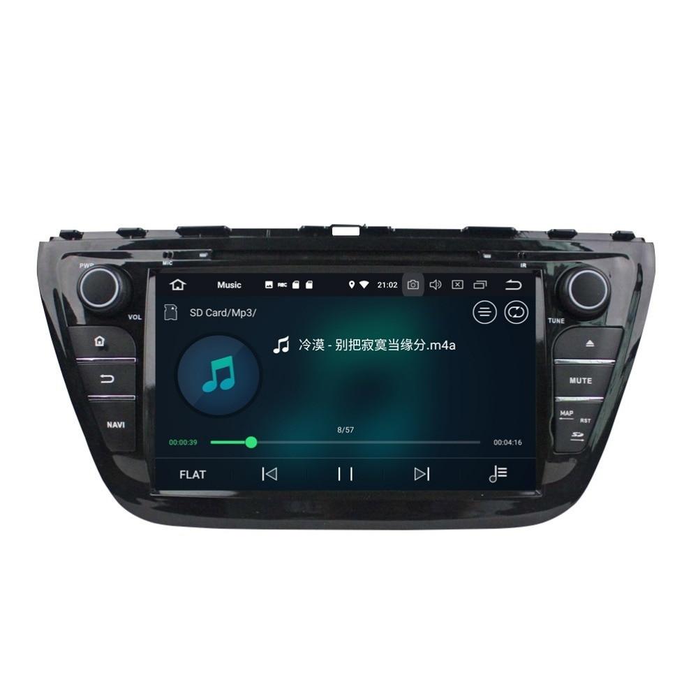 2 din 8 Android 8.0 Octa Core Car DVD Multimedia GPS Navigation for Suzuki SX4 /S Cross 2014 Radio Bluetooth WiFi Mirror-link