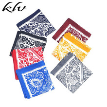 58x58cm Korean Women Cotton Square Bandana Ethnic Geometric Paisley Floral Print Headband Vintage Neck Tie Decorative Headwrap недорого