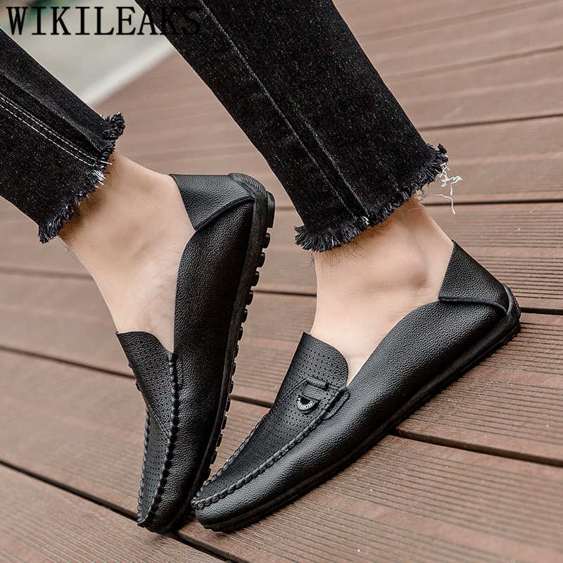 Breathable รองเท้าครึ่งรองเท้าสำหรับชายรองเท้าหนังผู้ชาย loafers แบรนด์หรู chaussure homme erkek spor ayakkabi zapatillas