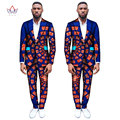 (Jackets+Pants) Dashiki for Men Suits Custom Fit Fashion Straight Business Wedding Suits for Men Blazers Plus Size 6XL WYN263