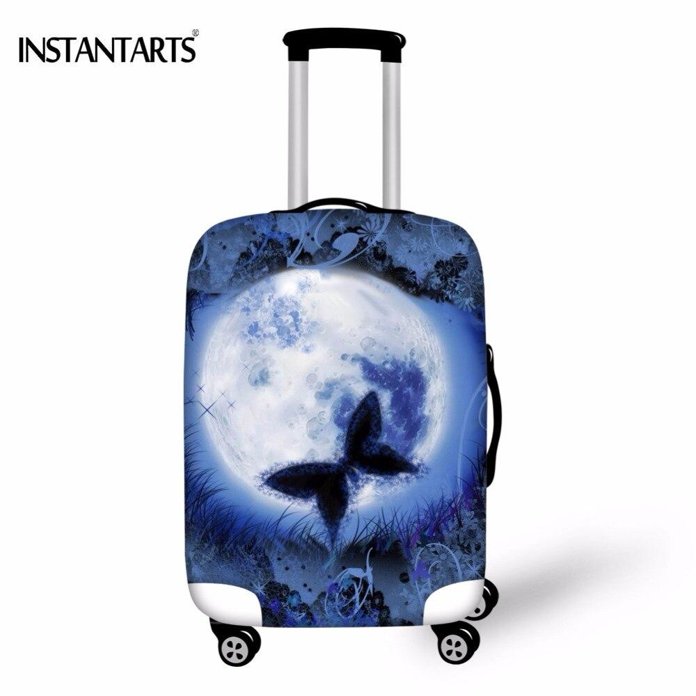 INSTANTARTS Galaxy с принтом бабочки тележки чемодан защитная крышка 18-30 дюймов эластичные Чемодан Обложка Сгущает дорожные аксессуары