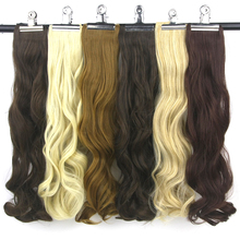 Soowee 14 colors Wavy High Temperature Fiber Hairpieces Gray Black Clip-in One Piece Hair Extensions for Women