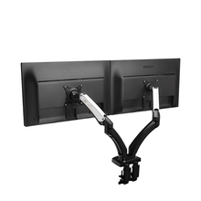 2017 Scorching NB F180 Fuel Spring Full Movement 17″-27″ Twin Display screen Monitor Holder Desktop Clamping/ Grommet TV Mount With Two USB Ports