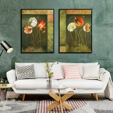 Scandinavian Style Watercolor Flower Painting Wall Art Canvas Posters Nordic Prints Decorative Picture Modern Home Decoration