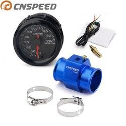 CNSPEED 2 ''52mm miernik temperatury wody samochód 7 kolorów Led 40-140 celsjusza high speed z adapterem czujnika temperatury wody