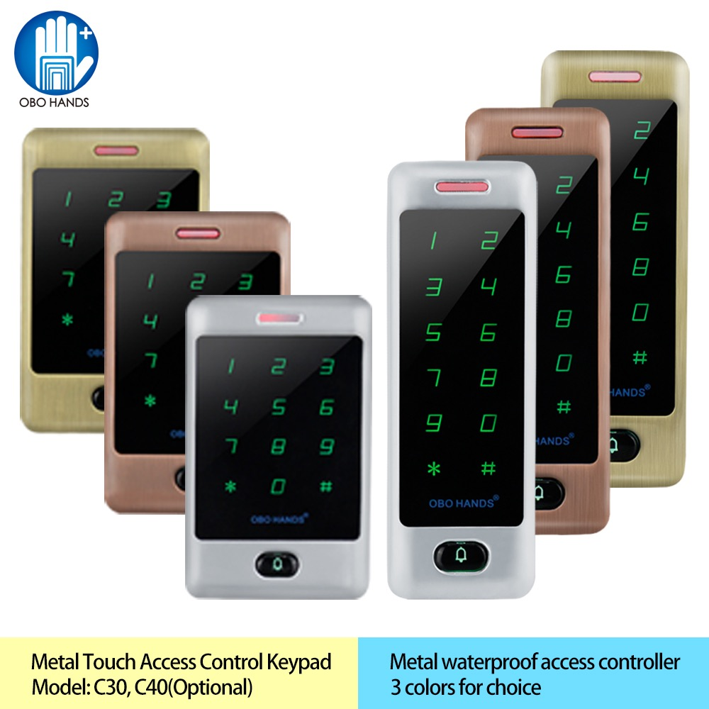 Standalone Access Controller Proximity RFID 125KHz Card Reader IP65 Waterproof with Touch Digital Metal Keypad Wiegand 26/34 lpsecurity waterproof standalone rfid keypad card door access controller wiegand 26 id reader input output high performance
