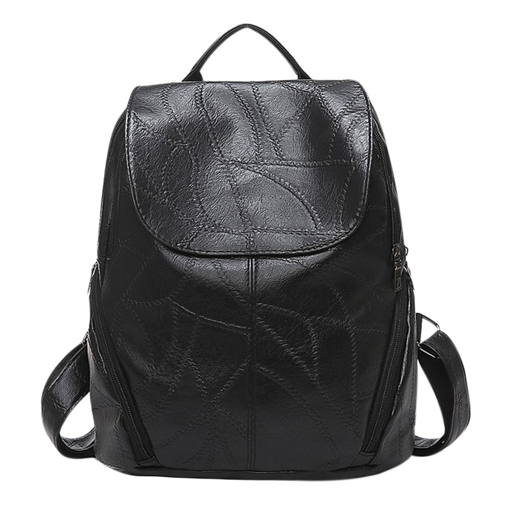 New Sheepskin Pattern Backpack Women PU Leather Backpack Travel Backpack Simple Girls Sc ...