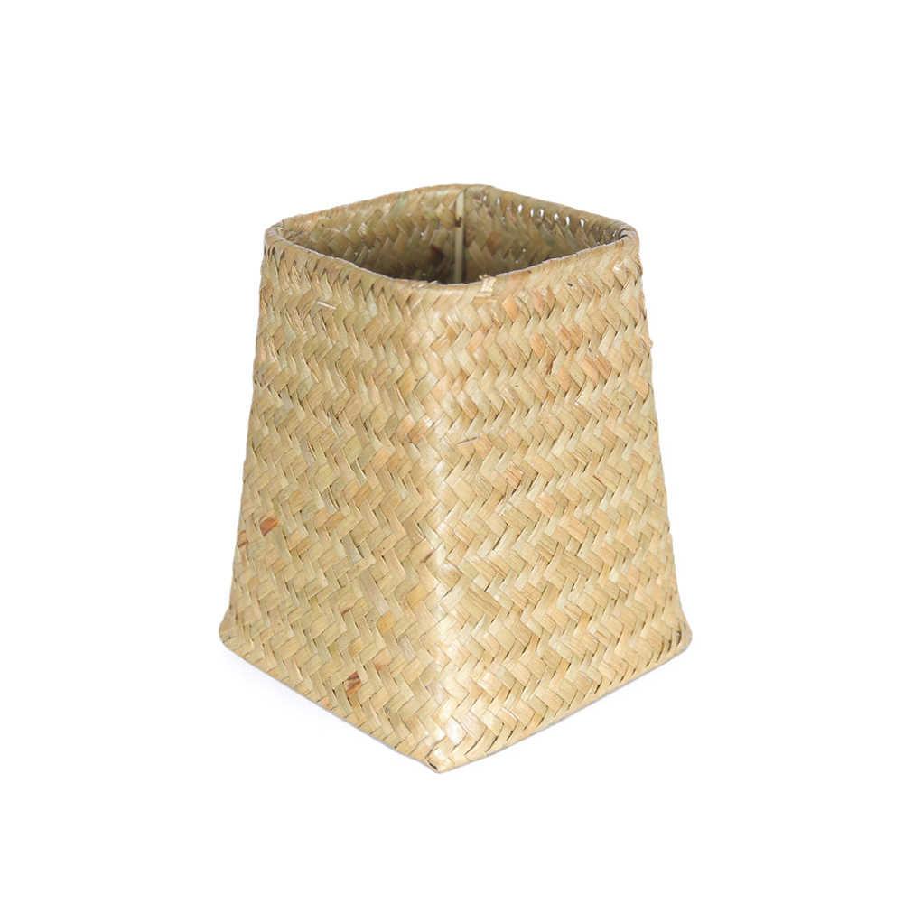 45 # criativo Palha Jardim Vaso de Flores Artesanais Diversos Organizer Caixa de Cesta de Vime Planta Decoração de Casa Vaso de Flores de Palha