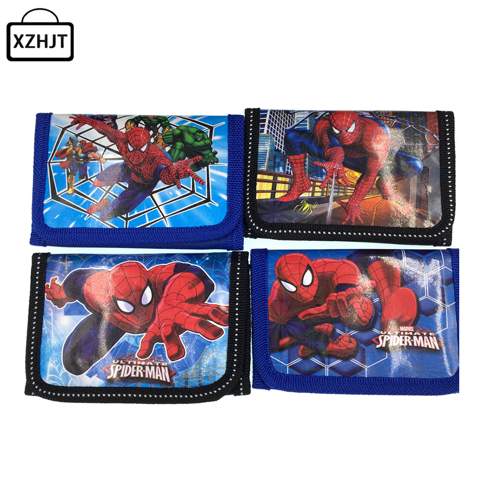 Fashion Cartoon Spider Man Coin Purse Children Zip Change Purse Wallet Movie Kids Girl Women Pouch Bolsa For Gift