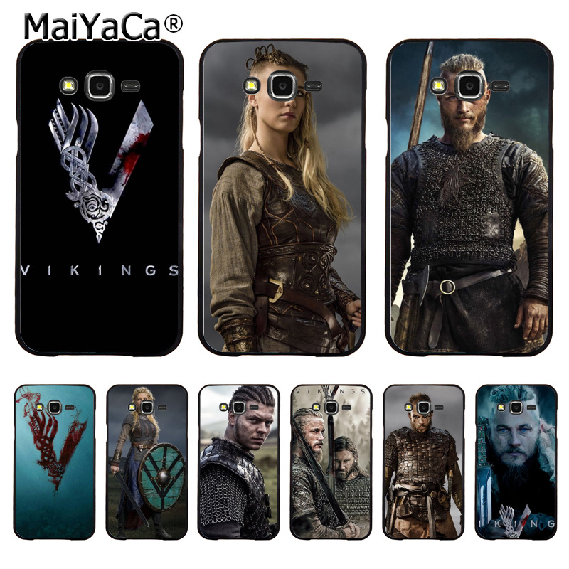 MaiYaCa vikings serie 4 fashion Painted cover Style Design Cell Phone Case for Samsung J1 J3 J5 J7 Note 3 Note 4 Note 5